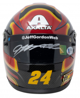 Jeff Gordon Signed NASCAR 1:3 Scale Mini-Helmet (Beckett COA & Gordon Hologram) at PristineAuction.com