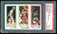 Larry Bird / Julius Erving / Magic Johnson 1980-81 Topps #6 RC (PSA 7)(OC) at PristineAuction.com