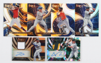 Lot of (6) 2020 Select Baseball Cards with Sheldon Neuse Rookie Jersey Autographs Prizms Cracked Ice #50, Travis Demeritte Rookie Jersey Autographs Prizms Holo #35 at PristineAuction.com