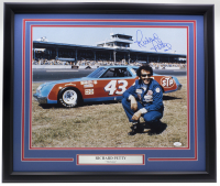 Richard Petty Signed NASCAR 22x27 Custom Framed Photo (JSA COA) at PristineAuction.com