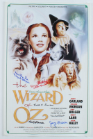 """""""The Wizard Of Oz"""" 15x24 Poster Cast-Signed by (6) with Jerry Marren, Donna Stewart-Hardaway, Karl Slover, Clarence Swensen Inscribed """"Munchkin Love"""" & """"Child Munchkin"""" (JSA COA) at PristineAuction.com"""