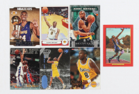 Lot of (7) Kobe Bryant Basketball Cards with 1997 Score Board Rookies Dean's List #83 ART, 1996-97 Hoops #281 RC at PristineAuction.com