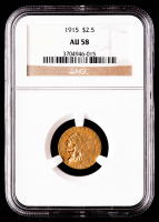 1915 $2.50 Indian Head Quarter Eagle Gold Coin (NGC AU58) at PristineAuction.com