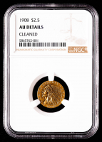 1908 $2.50 Indian Head Quarter Eagle Gold Coin (NGC AU Details) at PristineAuction.com