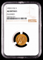 1925-D $2.50 Indian Head Quarter Eagle Gold Coin (NGC AU Details) at PristineAuction.com
