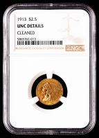 1913 $2.50 Indian Head Quarter Eagle Gold Coin (NGC UNC Details) at PristineAuction.com