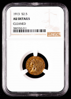 1913 $2.50 Indian Head Quarter Eagle Gold Coin (NGC AU Details) at PristineAuction.com