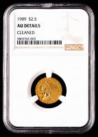 1909 $2.50 Indian Head Quarter Eagle Gold Coin (NGC AU Details) at PristineAuction.com