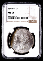 1902-O Morgan Silver Dollar (NGC MS66+) (Toned) at PristineAuction.com