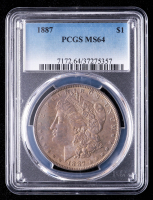 1887 Morgan Silver Dollar (PCGS MS64) (Toned) at PristineAuction.com