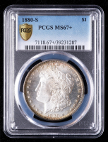 1880-S Morgan Silver Dollar (PCGS MS67+) (Toned) at PristineAuction.com