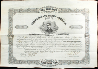 1877 $1,000 One Thousand Dollar Confederate States Loan Bank Note at PristineAuction.com