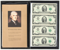 2003 $2 Two Dollar US Currency Notes Display Folder with (4) Bills at PristineAuction.com