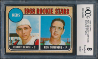 1968 Topps #247 Rookie Stars / Johnny Bench RC / Ron Tompkins RC (BCCG 8) at PristineAuction.com