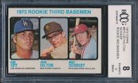 1973 Topps #615 Rookie Third Basemen / Ron Cey / John Hilton RC / Mike Schmidt RC (BCCG 8) at PristineAuction.com