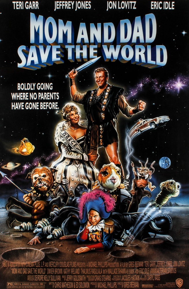 """""""Mom and Dad Save the World"""" 27x40 Original Movie Poster at PristineAuction.com"""