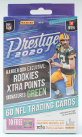 NFL Panini 2020 Prestige Football Trading Card Hanger Box with (60) Cards at PristineAuction.com