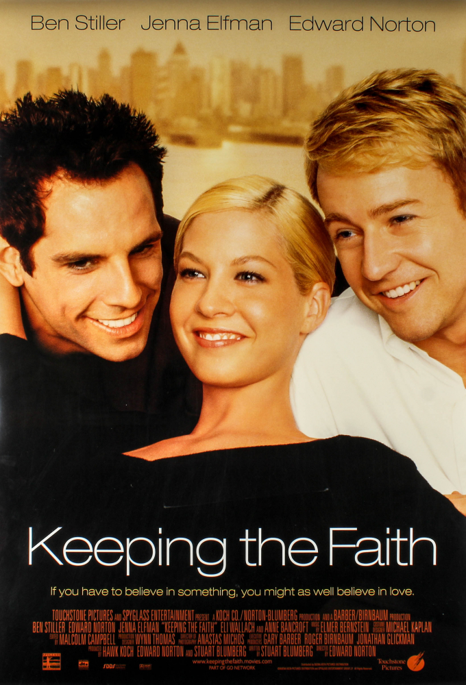 """""""Keeping the Faith"""" 27x40 Movie Teaser Poster at PristineAuction.com"""