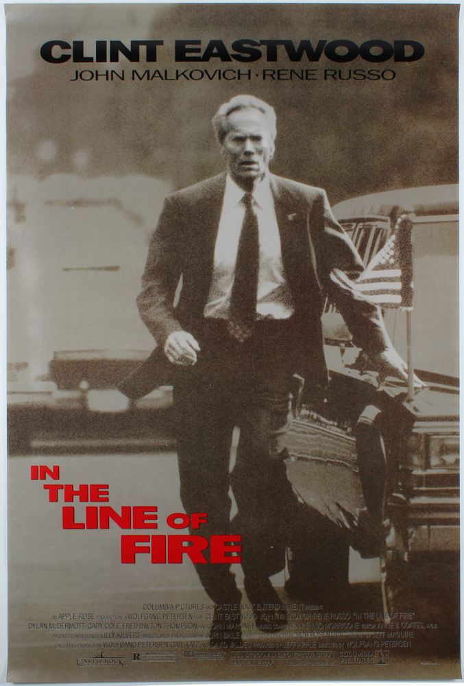 """""""In The Line Of Fire"""" 27x40 Original Movie Poster at PristineAuction.com"""