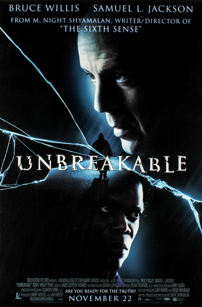 """""""Unbreakable"""" 27x40 Original Movie Poster at PristineAuction.com"""