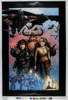 """How to Train Your Dragon: The Hidden World"" 29.5x42.5 Limited Edition Collectors Movie Poster at PristineAuction.com"