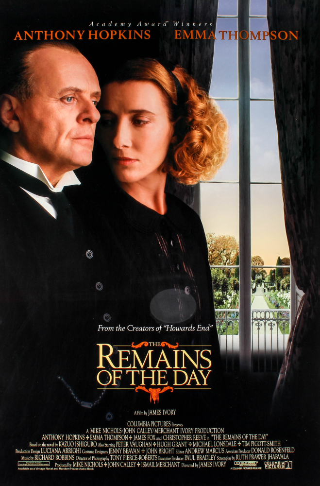 """""""The Remains of the Day"""" 27x40 Movie Original Poster at PristineAuction.com"""