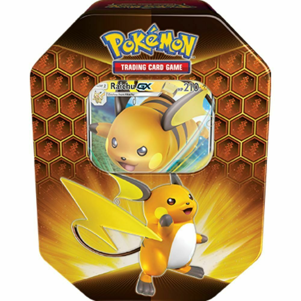 Pokemon TCG: Hidden Fates Tin - Raichu at PristineAuction.com