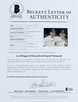 Mickey Mantle & Joe DiMaggio Signed Yankees 20x24 Custom Matted Photo Display (Beckett LOA) at PristineAuction.com