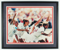 2000 Women's US Silver Medal Olympic Soccer Team 21x25 Custom Framed Photo Display Signed By (6) With Mia Hamm, Kristine Lilly, Cindy Parlow, Katie Sobrero (Beckett LOA & Steiner COA) at PristineAuction.com