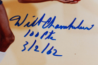 """Wilt Chamberlain Signed Warriors 11x14 Photo Inscribed """"100 Pts 3/2/62"""" (PSA Hologram & Beckett LOA) at PristineAuction.com"""