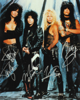 Motley Crue 16x20 Photo Signed By (4) With Tommy Lee, Nikki Sixx, Mick Mars & Vince Neil (Beckett LOA) at PristineAuction.com
