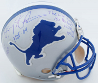 Barry Sanders Signed Lions Full-Size Authentic On-Field Helmet with Multiple Inscriptions (Schwartz COA) at PristineAuction.com