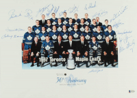 1967 Maple Leafs 13x18 Lithograph Signed By (17) With Johnny Bower, Dave Keon, Pete Stemkowski, Ron Ellis (Beckett LOA) at PristineAuction.com