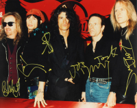 Aerosmith 16x20 Photo Signed By (5) With Steven Tyler, Joe Perry, Tom Hamilton, Brad Whitford & Joey Kramer (Beckett LOA) at PristineAuction.com
