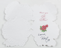 Hugh Hefner Signed Valentine's Day Card (Beckett LOA) at PristineAuction.com
