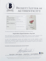 Hugh Hefner Signed Valentine's Day Card (Beckett LOA) at PristineAuction.com