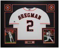 Alex Bregman Signed 35x43 Custom Framed Jersey (Fanatics Hologram & MLB Hologram) at PristineAuction.com