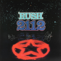 "Geddy Lee, Alex Lifeson & Neil Peart Signed Rush ""2112"" 17x17 Poster (Beckett LOA) at PristineAuction.com"