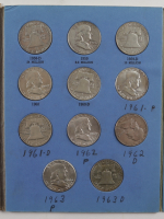 Complete Benjamin Franklin Silver Half-Dollars Collection of (35) Coins with Booklet at PristineAuction.com