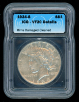 1934-S Peace Silver Dollar (ICG VF20) at PristineAuction.com