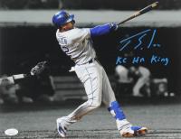 """Jorge Soler Signed Royals 11x14 Photo Inscribed """"KC HR King"""" (JSA COA) at PristineAuction.com"""