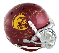 USC Trojans Full-Size Authentic On-Field Helmet Signed by (5) with Marcus Allen, Charles White, Matt Leinart, Mike Garrett & Carson Palmer with Heisman Inscriptions (Radtke COA) at PristineAuction.com