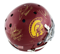 USC Trojans Full-Size Authentic On-Field Helmet Signed by (5) with Marcus Allen, Charles White, Matt Leinart, Mike Garrett & Carson Palmer with Multiple Inscriptions (Radtke COA) at PristineAuction.com