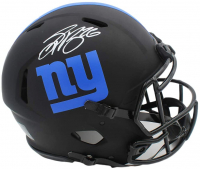 Saquon Barkley Signed Giants Full-Size Authentic On-Field Eclipse Alternate Speed Helmet (Beckett COA) at PristineAuction.com