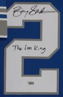 "Barry Sanders Signed 35x43 Custom Framed Jersey Inscribed ""The Lion King"" (Fanatics Hologram) at PristineAuction.com"