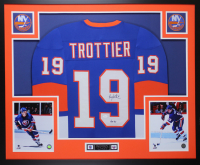 Bryan Trottier Signed 35x43 Custom Framed Jersey (JSA COA) at PristineAuction.com