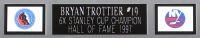 Bryan Trottier Signed 35x43 Custom Framed Jersey (JSA COA) at PristineAuction.com