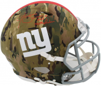 "Lawrence Taylor Signed Giants Full-Size Authentic On-Field Camo Speed Helmet Inscribed ""I Was a Bad Motherf*****"" (Radtke COA) at PristineAuction.com"