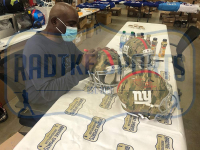 """Lawrence Taylor Signed Giants Full-Size Authentic On-Field Camo Speed Helmet Inscribed """"I Was a Bad Motherf*****"""" (Radtke COA) at PristineAuction.com"""