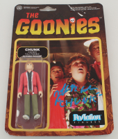 """Jeff Cohen Signed """"The Goonies"""" Action Figure Inscribed """"Chunk"""" (JSA COA) at PristineAuction.com"""
